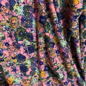 Lularoe TC pink flower leggings
